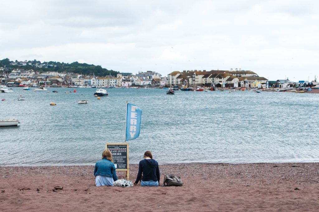 WITING FOR THE TEIGNMOUTH FERRY AT SHALDON