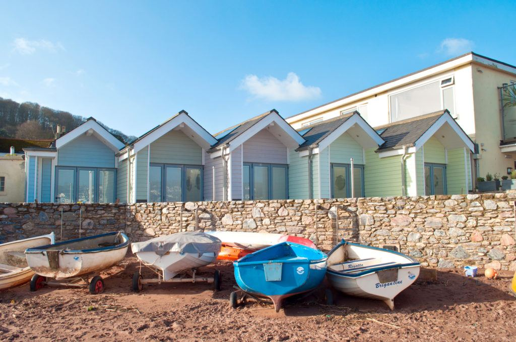 Shaldon Beach Huts in Teignmouth