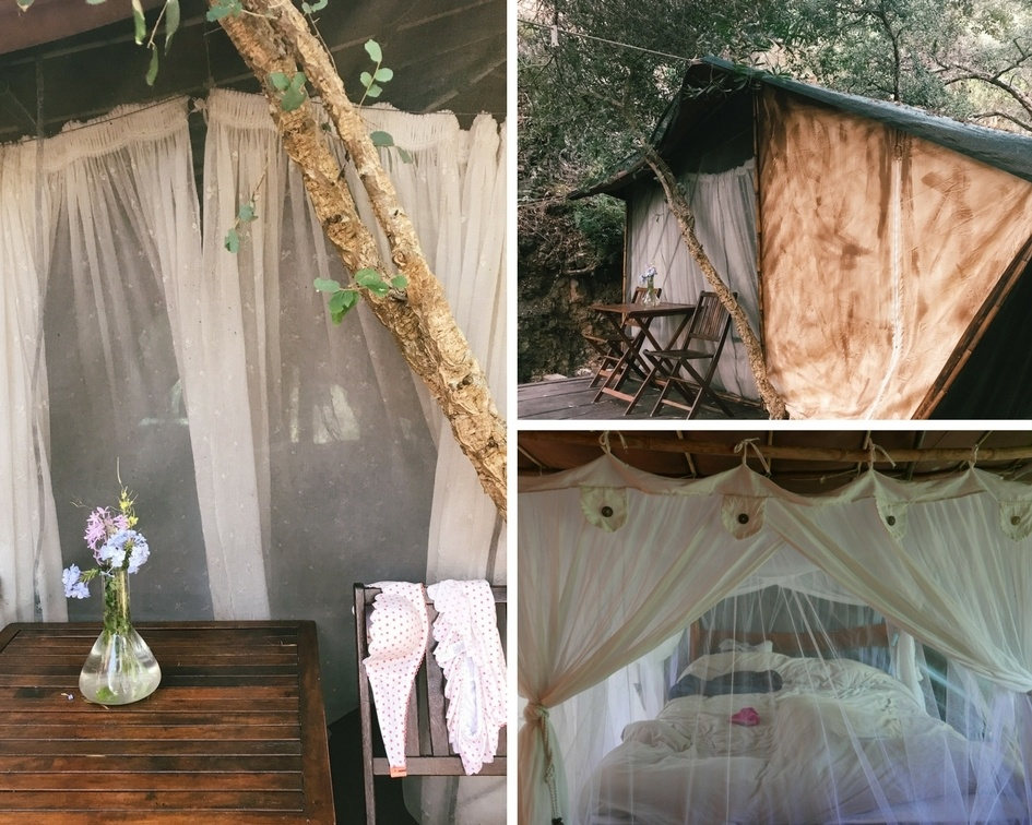 Safari tent accommodation at Tipi Valley Portugal
