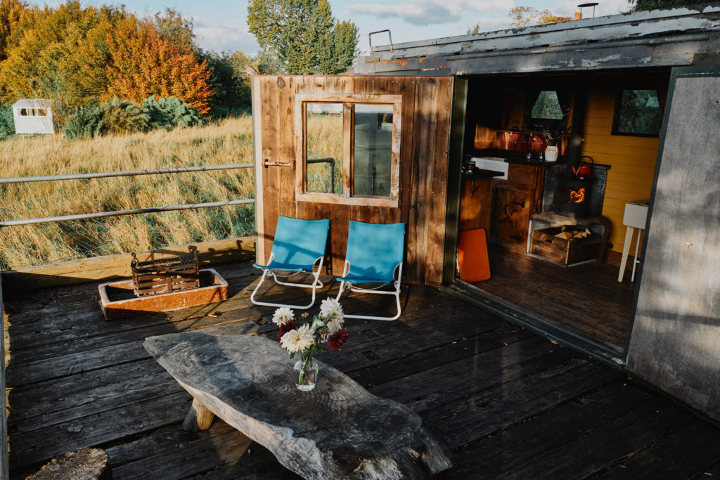 glamping in herefordshire with Mad Dogs and Vintage Vans - Monty Van