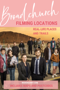 broadchurch filming locations pinnable image of cast