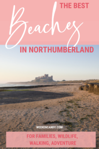 beaches northumberland pinnable image