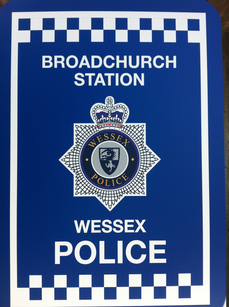 broadchurch filming location: Wessex police Station sign