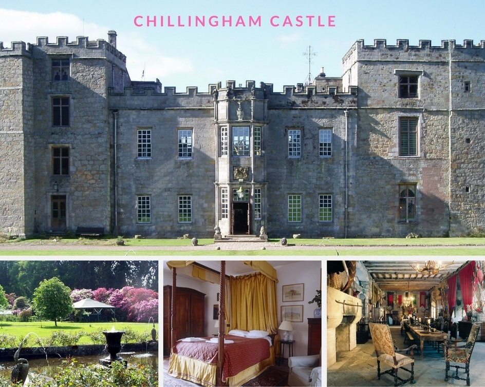 Chillingham castle montage of images - stay in autumn