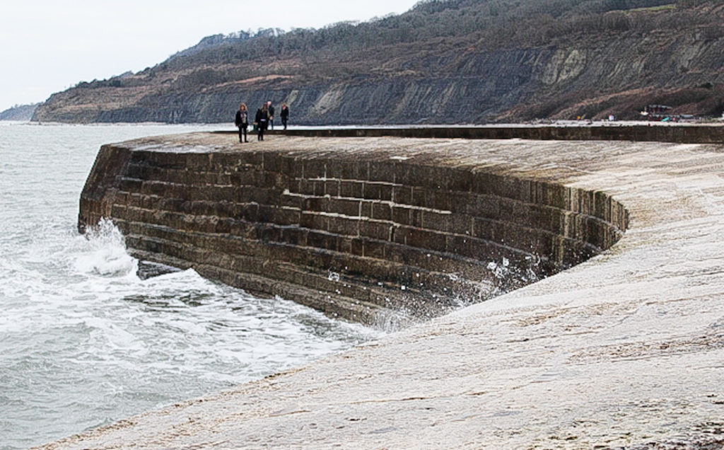 Things-to-do-in-lyme-regis: walking on the cobb