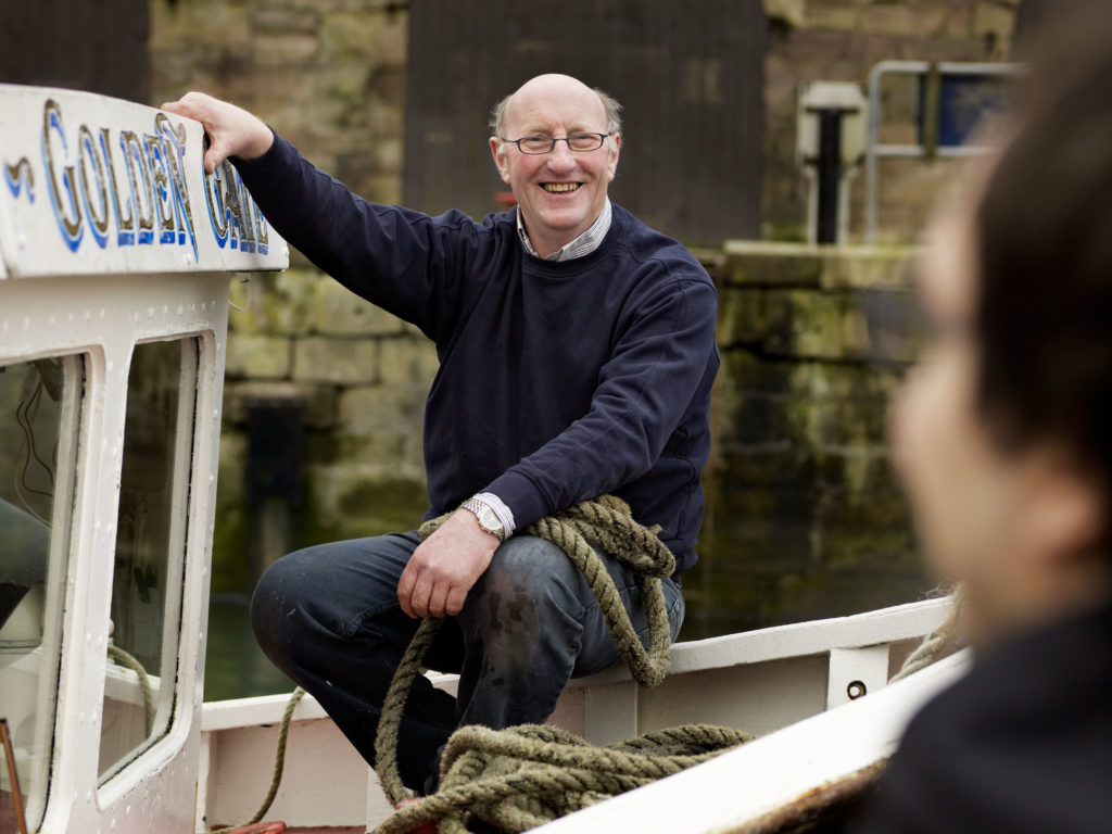 golden gate boat trips to the farnes, skipper George