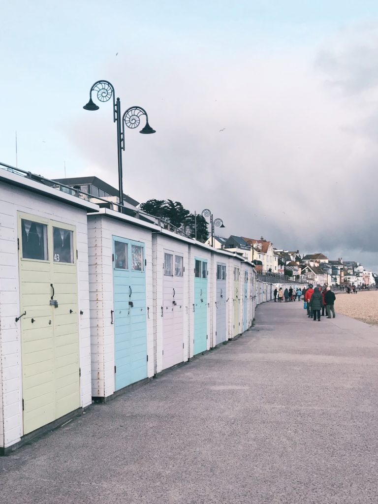 Things-to-do-in-lyme-regis: beach huts on marine parade