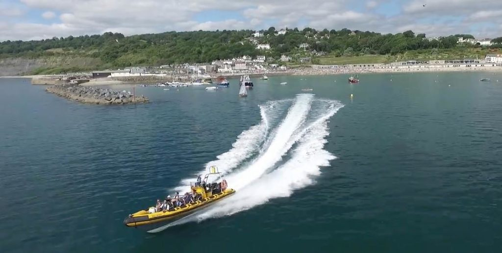 Things-to-do-in-lyme-regis RIB Ride boat moving