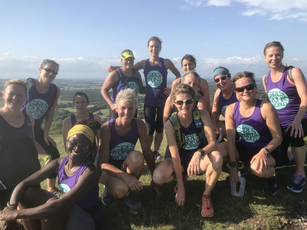 Group of women in run retreat in Sussex