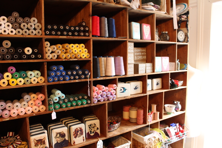 Things-to-do-in-lyme-regis Sew La Dee Da Interior of shop