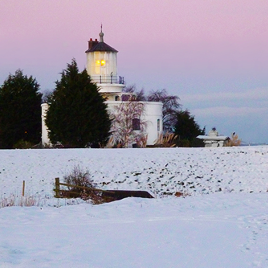 West Usk Lighthouse in the Snow