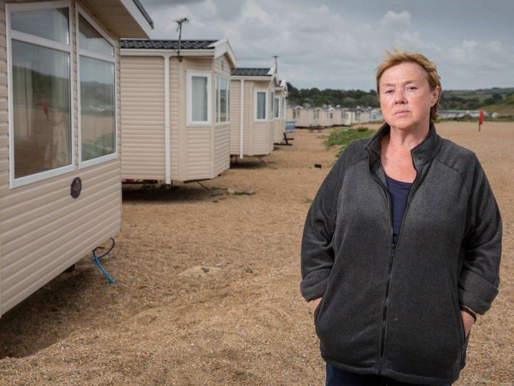 broadchurch filming location: Susan Wright's Caravan, Freshwater