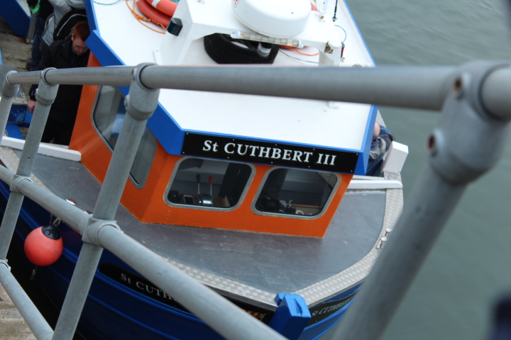 St Cuthbert Boat in Seahouses Harbour