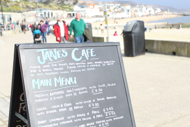 Things-to-do-in-lyme-regis Jane's Cafe Menus