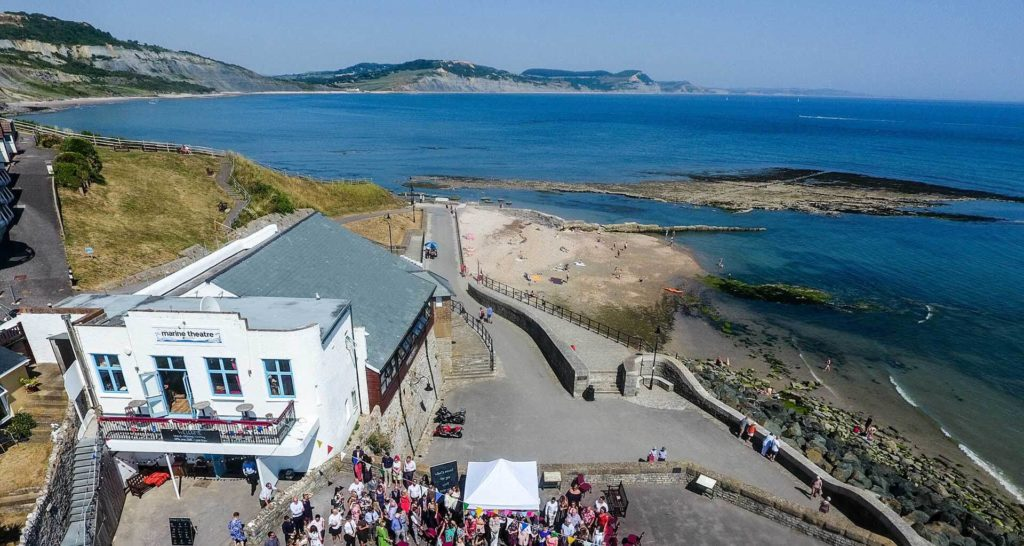 Things-to-do-in-lyme-regis Marine Theatre Ariel View