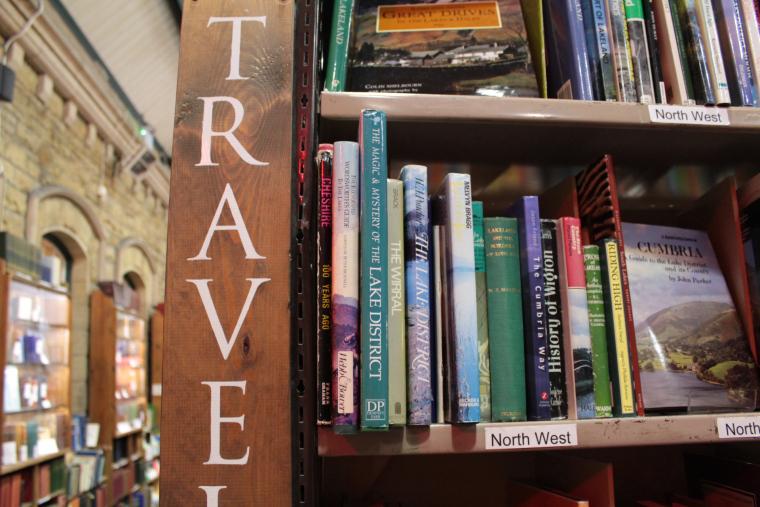 Travel books in Barter Books