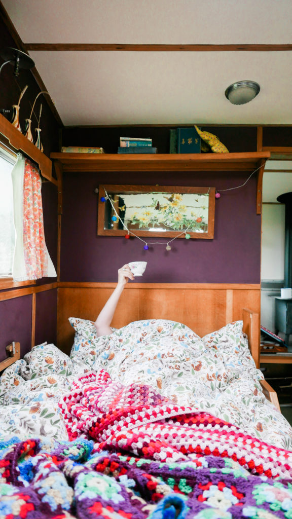 Mad Dogs glamping in the Forest of Dean - Inside Sybil Van