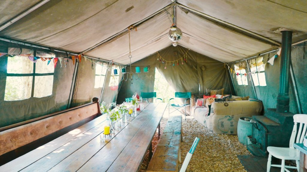 Mad Dogs glamping in the Forest of Dean - Mess tent