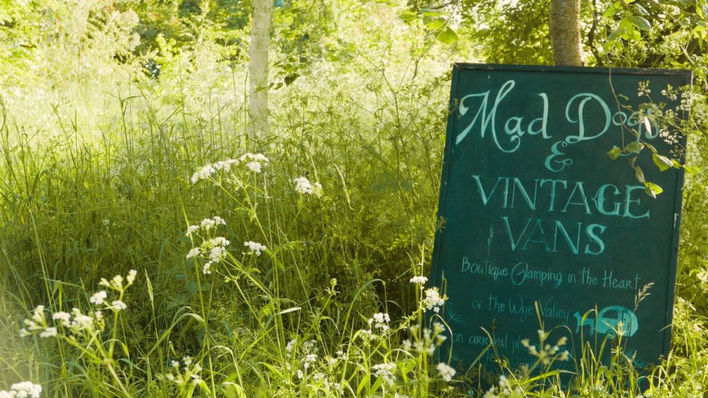 Mad Dogs glamping in the Forest of Dean - Camp sign