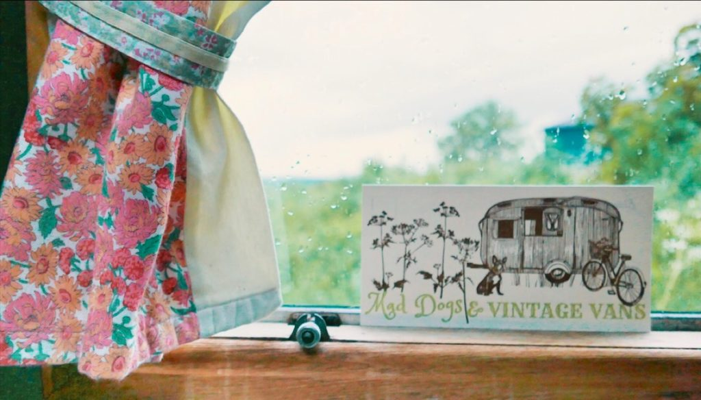Mad Dogs glamping in the Forest of Dean - Close up of van postcard