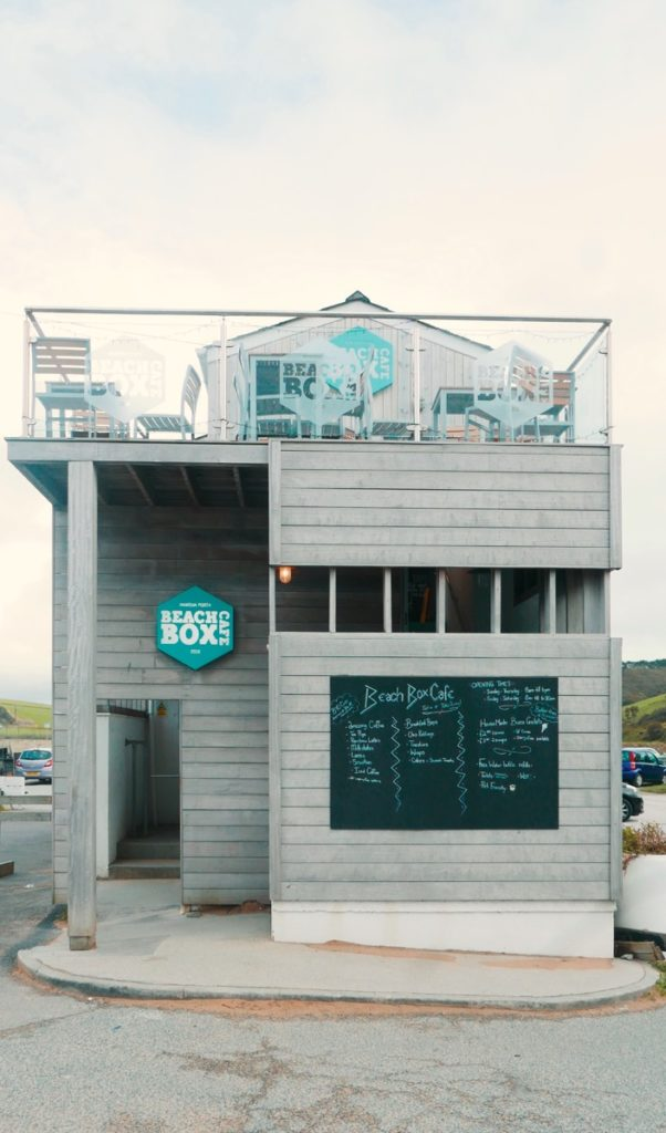 Beach Box Cafe Mawgan Porth Cornwall