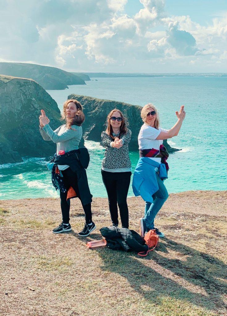 Coast walk on a girls weekend in cornwall