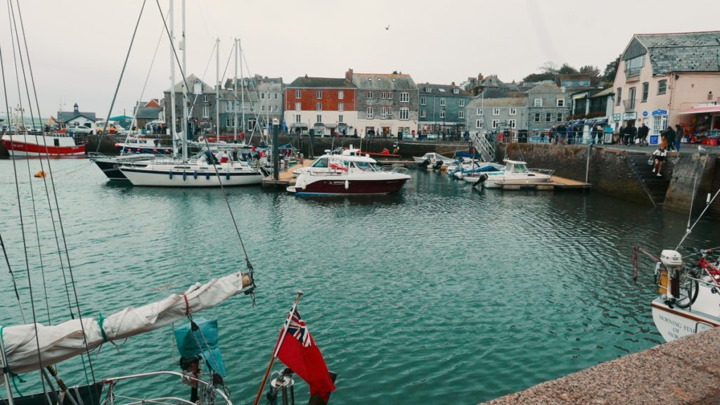 Padstow harbour on a girls' weekend away