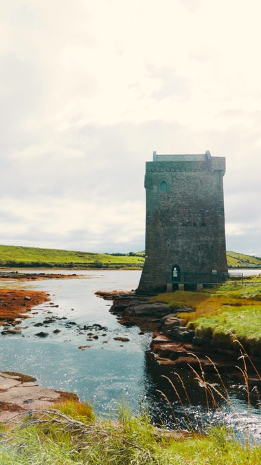 Rockfleet Castle, Co. Mayo on the Wild Atlantic Way