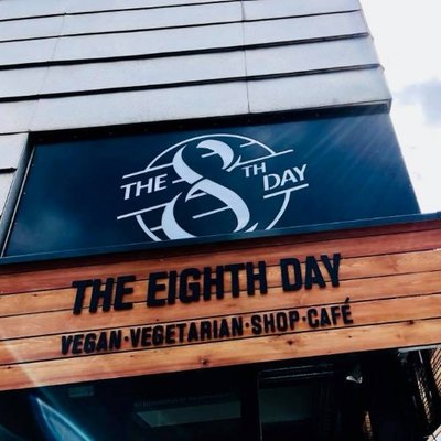 eighth day vegan cafe manchester exterior