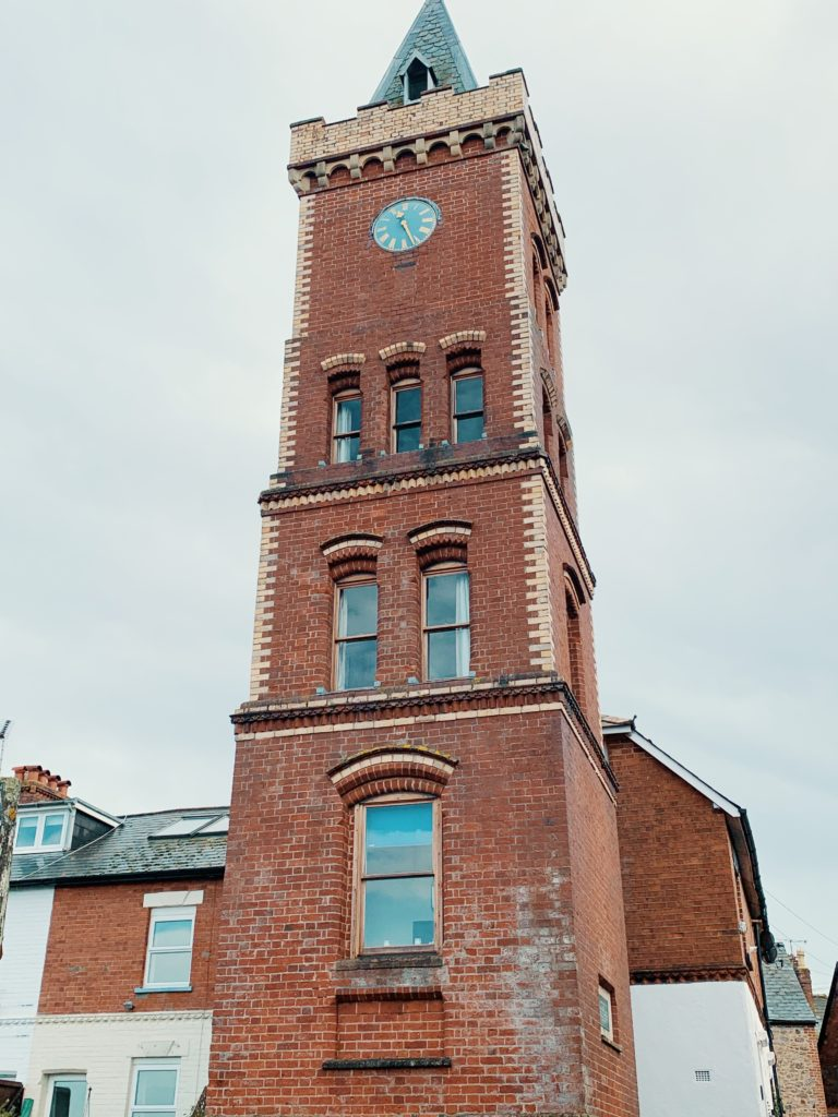 Exterior shot of Peter's Tower in Lympstone, Devon