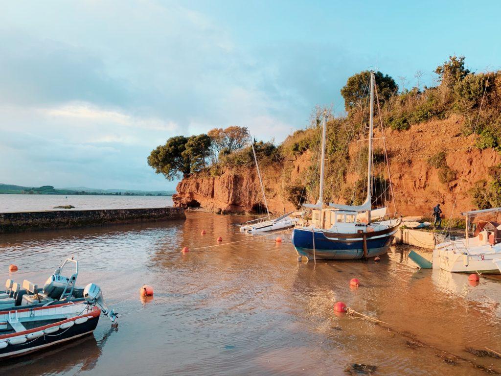 Boast in Lympstone harbour devon