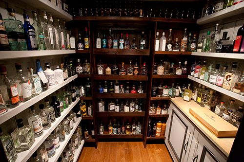 inside the gin pantry at the Plough