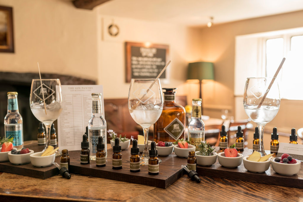 Gin blending experience at the Gin Pantry Cotswolds