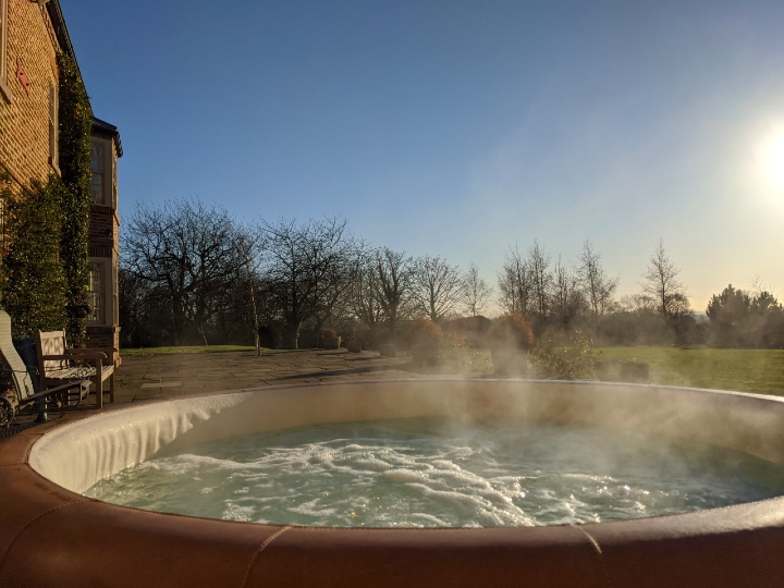 hot tub at Split Hall North Yorkshire