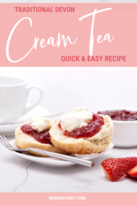 Devon cream tea with jam