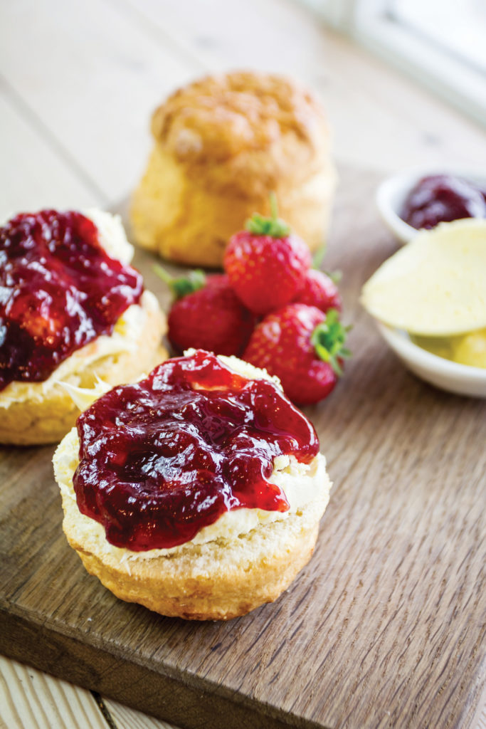 Devon cream tea with jam