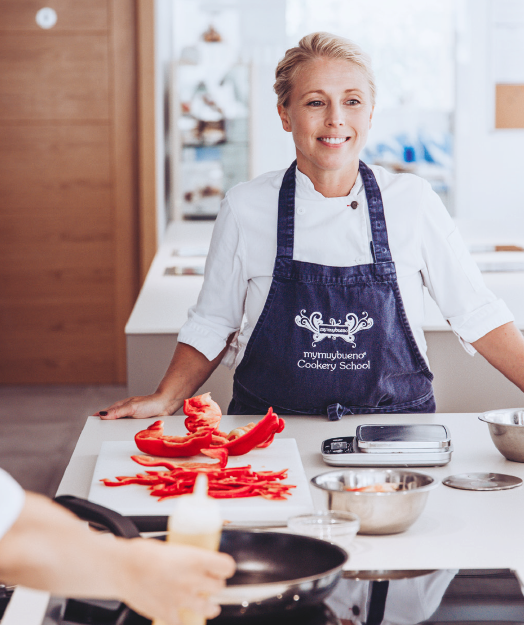 Justine Murphy in her kitchen