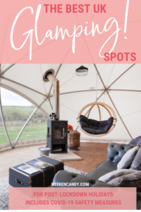 BEST UK GLAMPING pinnable image