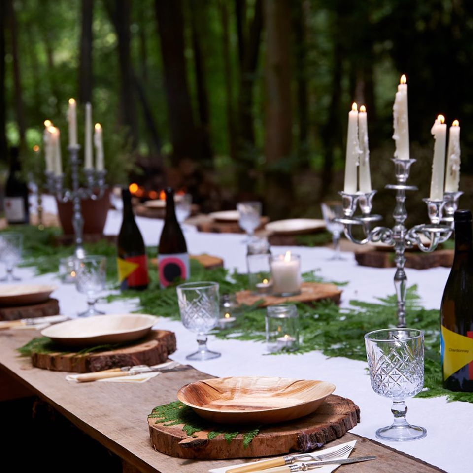 foraging uk feast experience - outdoor dining table