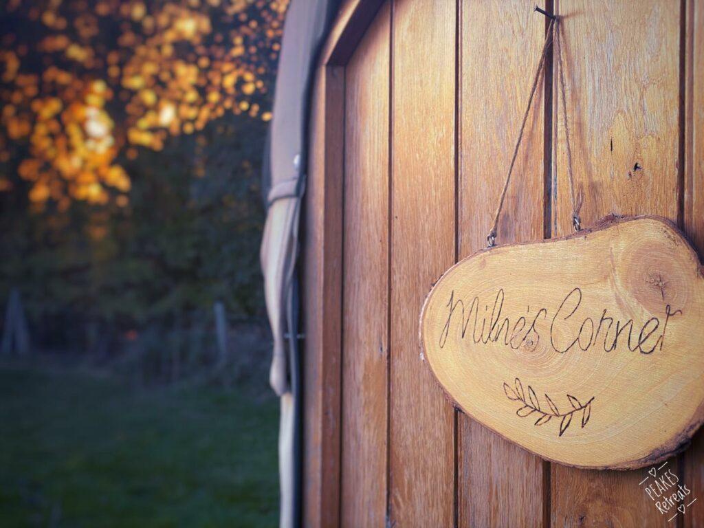 peake's retreats yurts in Staffordshire - yurt door
