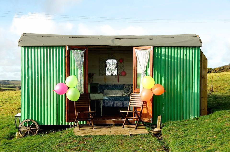Green Cart Farm, Cornwall, Shepherd's Hut, Exterior