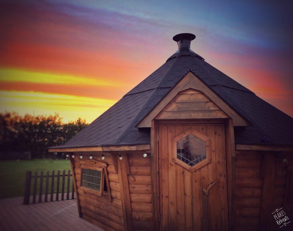 peake's retreats yurts in Staffordshire - BBQ hut