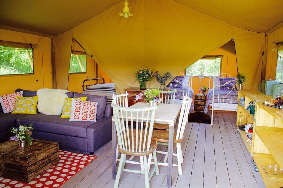 Drover's Rest Safari Tents Glamping, Hay On Wye, Living Space