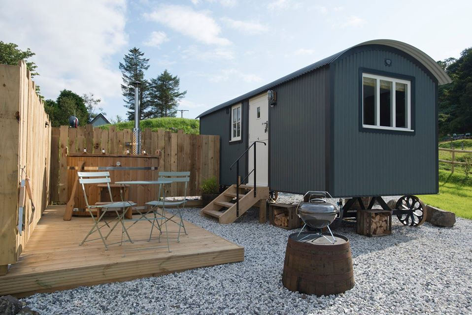 West Coast Hideaways Shepherds Hut Glamping Exterior