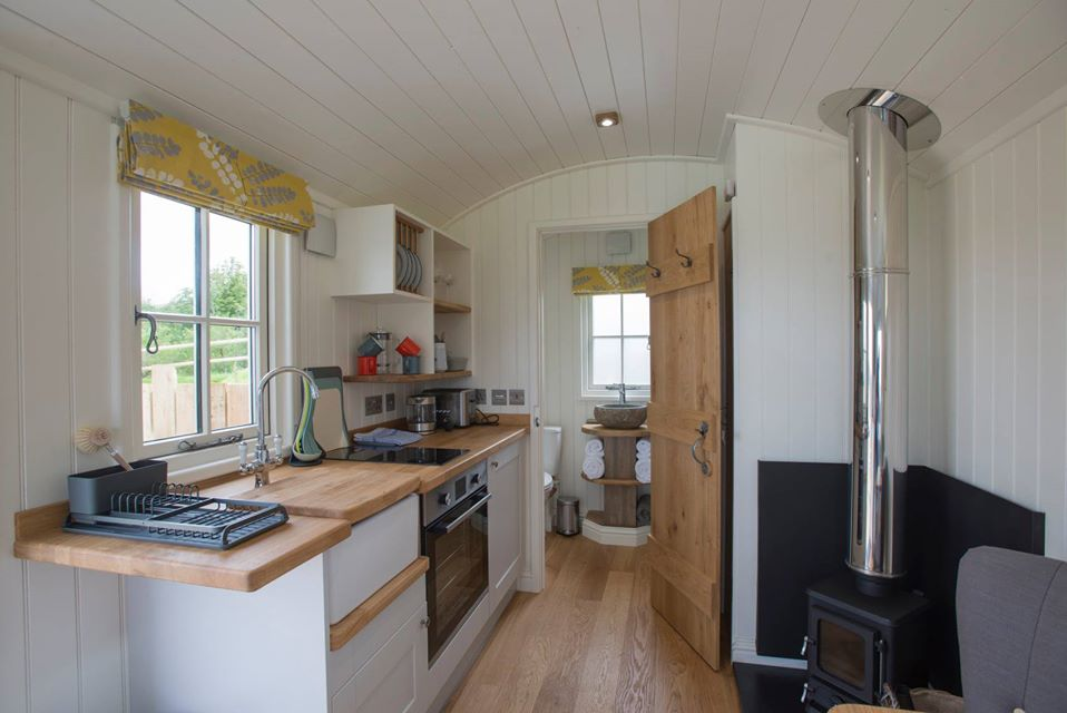 West Coast Hideaways Shepherds Hut Glamping Interior