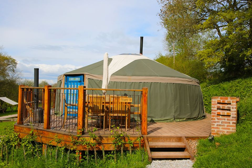 Hidden valley yurts - outside of yurt 3