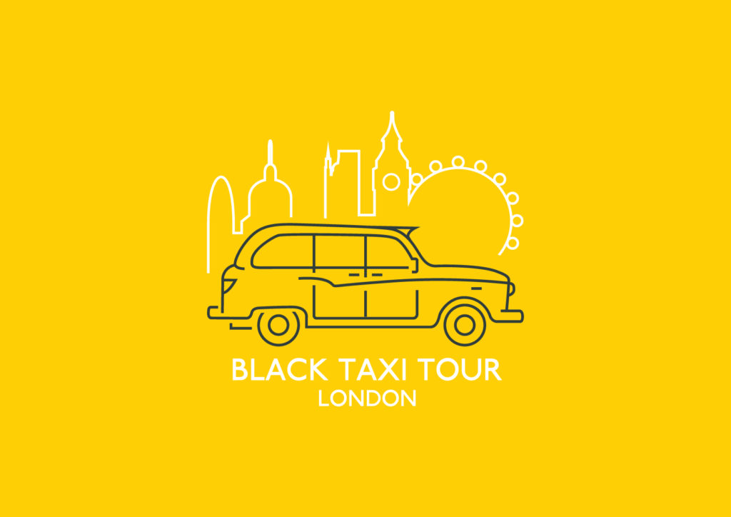 Black taxi tour London logo