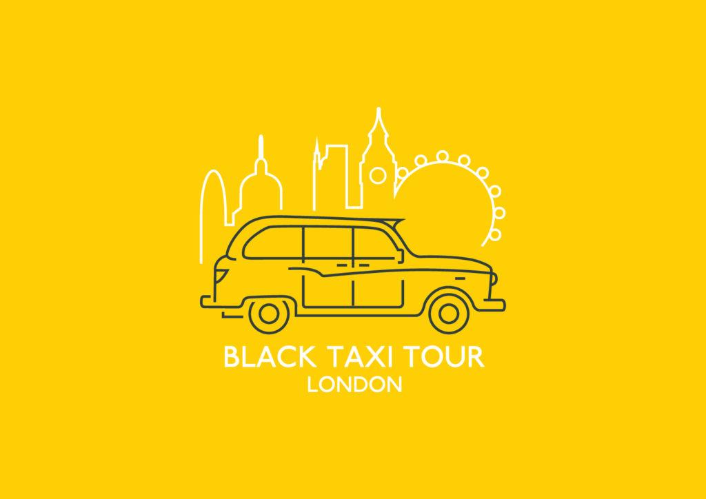 Black taxi tour London logo
