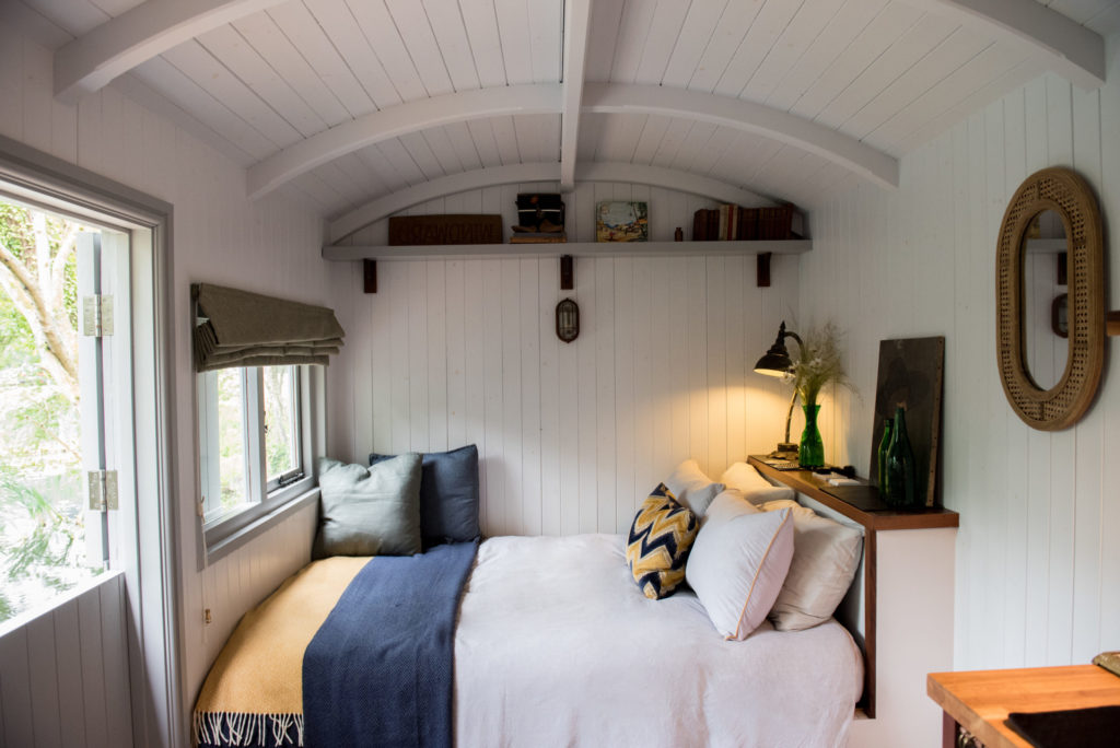 The Hide Shepherds Hut in Cuckfield, Sussex - bedroom