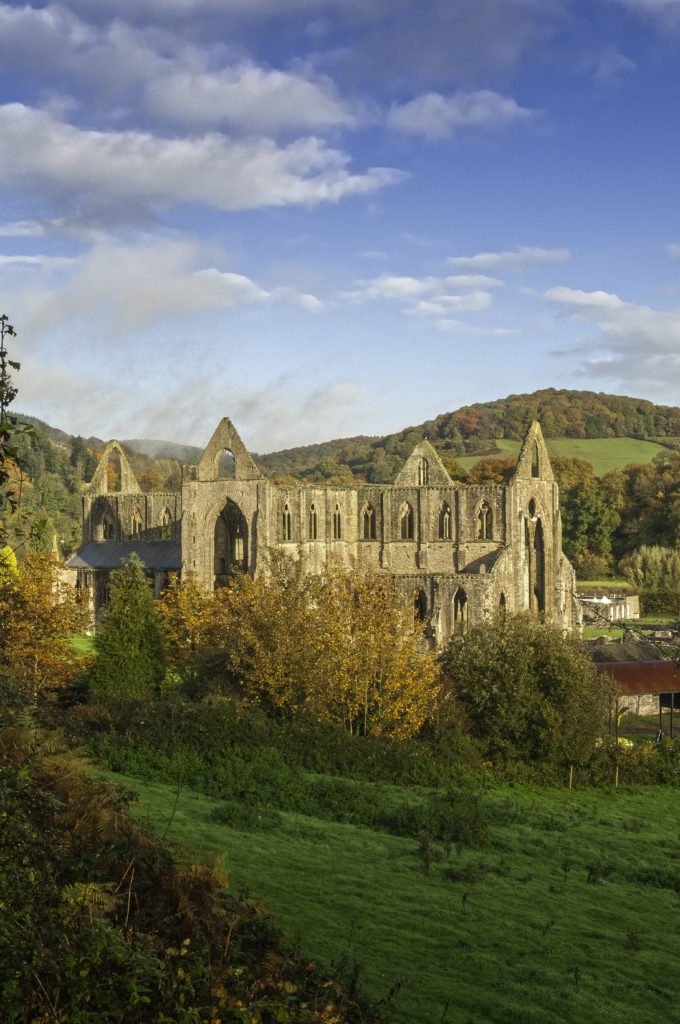 Tintern Abbey - General view from the south east in autumn